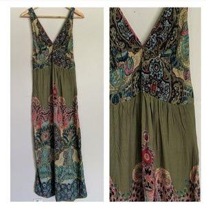 Angie Green Paisley Summer Maxi Dress